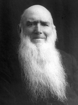 Mr Clarke, verger early in the 20th century