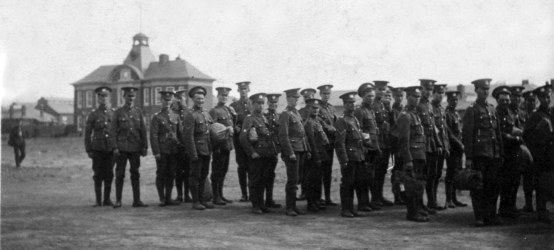 Cromer men of the Territorials, probably taken at Colchester soon after they had been called up.